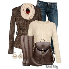 Crisp Fall Walk, created by brendariley-1 on Polyvore