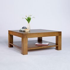 Santana Rustic Solid Oak Square Coffee Table -  - Coffee Table - Ametis - Space & Shape - 1