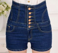 Angcoco Womens Fashion Sexy High Waisted Bandage Jeans Denim Shorts >>> Find out more at the image link. Shorts Jeans, Hot Shorts, Hot Pants, High Waisted Shorts, High Waist Jeans, Denim Jeans, Skinny Shorts, Skinny Waist, Waisted Denim