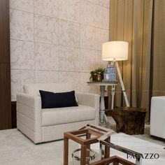 O revestimento Ártemis tem aparência rústica que se assemelha à superfície de uma pedra. Com textura leve produzida artesanalmente, cada peça possui desenhos diferentes, tornando o produto único.