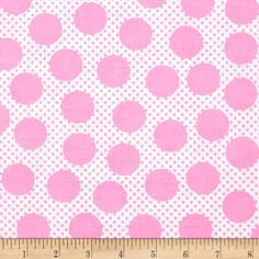 Michael Miller Cute Zoo Adorable Dots Pink from @fabricdotcom  Designed for Michael Miller Fabrics, this cotton print is perfect for quilting and craft projects as well as apparel and home décor accents. Colors include pink and white.