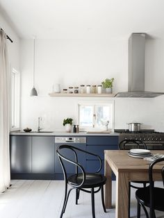 Kitchen with dining room chairs