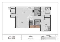 제품소개 Tiny House, Floor Plans, Blue, Tiny Houses, Floor Plan Drawing, House Floor Plans