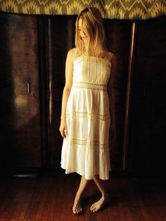 Jasmine Dress/Vintage 70's White Crochet by LydiaLoveVtg on Etsy