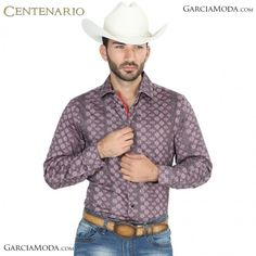 bc56aa648d Camisa Vaquera Centenario Western Wear 41079 Satin Red-Black