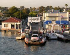 This is the Balboa Island ferry in Southern California. It was little David's first boat ride.
