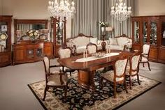 Magnificent large brown dining room with two round chandelier design Dining Chandelier, Chandelier In Living Room, Living Room Decor, Dining Room Furniture Design, Modern Furniture, Handmade Furniture, Wood Furniture, Furniture Ideas, Patterned Dining Chairs