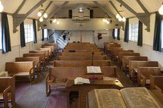 Interior of Oud Gereformeerde Gemeente in Nederland (Old Reformed Congregations in the Netherlands) #Harderwijk.