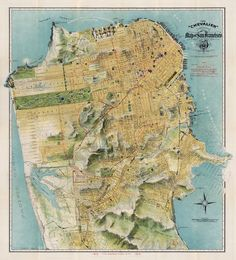 Map of San Francisco, 1912 I'm amazed at how similar it looks to today.  (At least, from my untrained tourist eye)