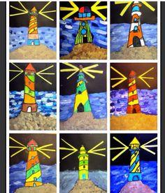 Kunst in der Grundschule: Leuchttürme