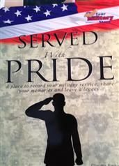 The Served with Pride guide easily helps any veteran reminisce, record and remember all the details of their service, no matter the branch o. Military Veterans, Reunions, Troops, The Book, Pride, Memories, Decor, Memoirs, Souvenirs