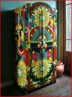 Carnival Cabinets - Lucas Rise (GALLERY) | hand painted wardrobe / up cycle | Spirograph | geometric