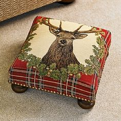 Stag Tapestry Footstool - I could never put my feet on this beauty
