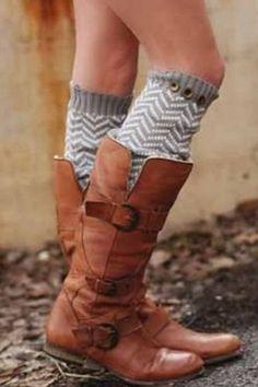Knee socks & boots
