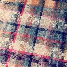 Handwoven deflected double weave in lambswool
