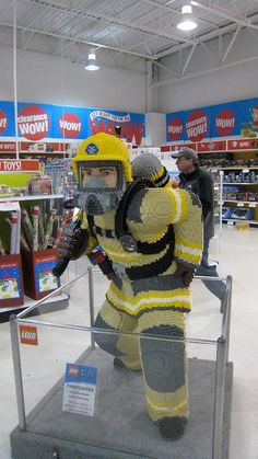 A firefighter in full SCBA gear made out of Legos. Epic. Awesome.
