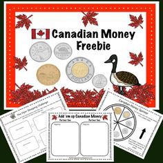 Canadian money freebie contains two hands on activities to help your students practice the important skill of counting money.This Canadian money freebie contains two hands on activities to help your students practice the important skill of counting money. Money Activities, Money Games, Kindergarten Activities, Math Resources, Measurement Activities, Classroom Resources, Preschool, Teaching Money, Teaching Math