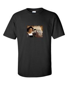 """Columbus Day Phone Pic"" short sleeve t-shirt"