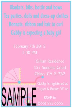 Old Fashion Crib Baby Shower Invitation- Please click on invite twice to follow me on Facebook or to place orders