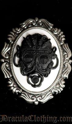 Gas mask Brooch