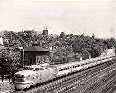 Pennsylvania Railroad Aero Train at SLOPE Tower Altoona Pennsylvania