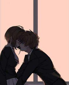 Anime Girl Drawings, Anime Couples Drawings, Anime Couples Manga, Anime Art Girl, Anime Couples Hugging, Cardcaptor Sakura, Anime Bisou, Romantic Anime Couples, Cute Anime Coupes