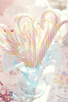Sweetly gorgeous pastel candy canes.