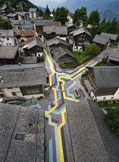 Street Painting (CH) / Lang Baumann #allestimenti #wayfinding #LangBaumann  #gd