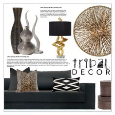 """Tribal decor"" by sebi86 ❤ liked on Polyvore featuring interior, interiors, interior design, home, home decor, interior decorating, 5 Surrylane, Palecek, Dot & Bo and Pigeon & Poodle"