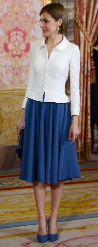 22 Apr 2015 - Queen Letizia attends pre-ceremony lunch for Cervantes Prize winner. Click to read more