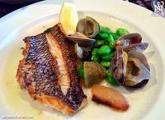Black Bass from Obelisk Small Restaurants, Restaurant Dishes, Italian Recipes, Bass, Steak, Food, Meals, Yemek, Lowes