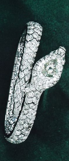 Cartier Paris Diamond Serpent Watch. Made by Lavabre for Cartier Paris 1920. Last owner known to author was Imelda Marcos