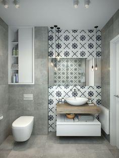 aménagement de petite salle de bain avec carrelage design