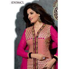 Eid Special Designer Pink Pure Atlanta Georgette Party Wear A-line Salwaar Suit-SDS386CL(ARTI -Pooja)Karishma