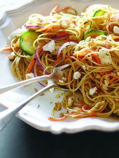 Whole Wheat Spaghetti and Goat Cheese Crumble Recipe - JoyOfKosher.com