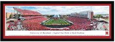 Blakeway Worldwide Panoramas Maryland Terrapins Football Stadium Framed Wall Art