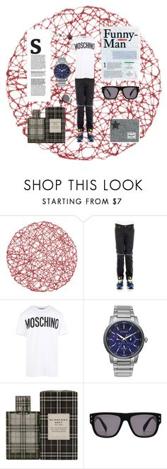 """""""Untitled #6"""" by kenan-zahirovic on Polyvore featuring Givenchy, Moschino, Citizen, Burberry, Herschel Supply Co., men's fashion and menswear"""