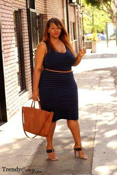 Trendy Curvy - Plus Size FashionTrendy Curvy Plus Size Fashion Blog, Plus Size Fashion For Women, Plus Size Womens Clothing, Clothes For Women, Plus Fashion, Casual Chic, Fashion Casual, Curvy Women Fashion, Casual Wear