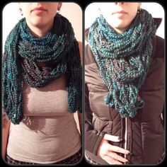 Items similar to Long Scarf - triple wrap scarf chunky textured loose knit teal scarf on Etsy Teal Scarf, Circle Scarf, Long Scarf, Quad, Scarf Wrap, Knits, Fancy, Knitting, Crochet