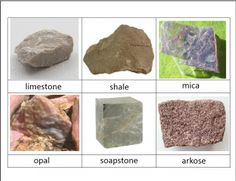 Rocks and Minerals Classified Cards