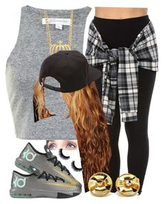"""."" by trillest-queen ❤ liked on Polyvore featuring NIKE, Vans and Chanel"