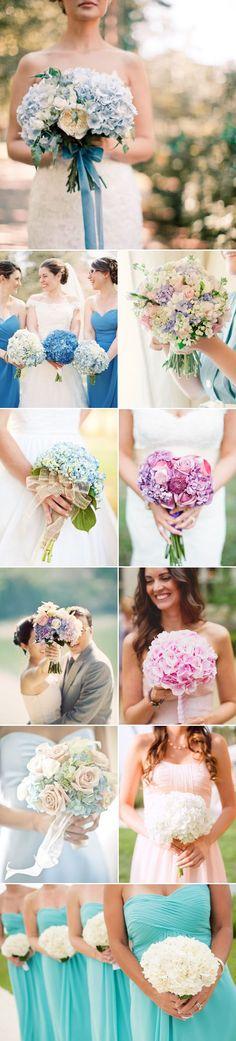 hydrangea wedding ideas - hydrangea wedding bouquet / http://www.deerpearlflowers.com/72-unique-and-gorgeous-ideas-for-wedding-bouquets/