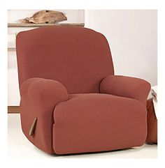 Sure Fit® Stretch Cavalry Twill Recliner Slipcover at www.bonton.com