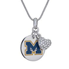 U of M Charm Necklace $45.00 http://www.niftythingsonline.com/U-of-M-Charm-Necklace-MIC1004/