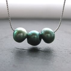 Menthe Pearl Necklace by Rachel Lucie $41