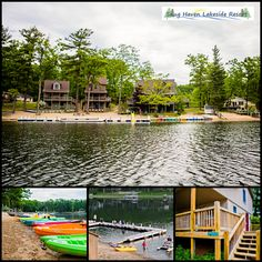 Snug Haven Lakeside Resort offers four unique cottage rentals with direct access to a sand beach and boat docks on Budd Lake — Pets Welcome!!   #itscabintime #bookdirect #travelmi #beachcottage #resort