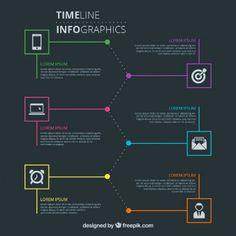 Moderno e elegante cronograma infográfico