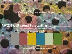 AutumnWiner2018/2019 Fashion Trend Forecasting for Women, Men, Intimate, Sport Apparel - Embossed Dots on Vintage Linen. www.JudithNg.com