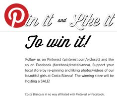 #CostaBlanca @Pinittowinit Fairview Mall, Stone Road, Eaton Centre, Shopping Center, Montreal, Giveaways, Toronto, Castle, Canada