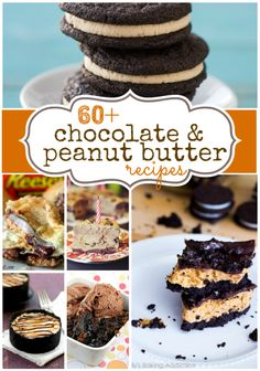 60 of the #best #chocolate and #peanut butter recipes from your favorite bloggers! www.somethingswanky.com